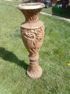 Vaza /veche/lemn/ foto