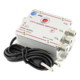 Amplificator cablu TV JMA, splitter 3 iesiri, LED, 20 dB, carcasa aluminiu