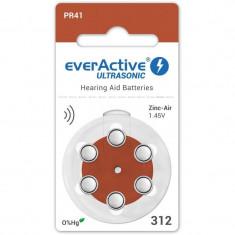 Baterii pentru proteze auditive Everactive ultrasonic 312 Zinc-Aer 6 Baterii /set