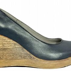 Pantofi dama cu talpa ortopedica de culoare indigo Ninna Art 170