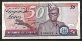 Republica Zair - 50 zaires - 1982 (B0166) - starea care se vede