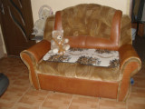 CANAPEA EXTENSIBILA + canapea de doua persoane + fotoliu, Canapele extensibile