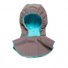 Gluga si fular de incalzire a gatului pentru bebelusi Liliputi - Grey-turquoise