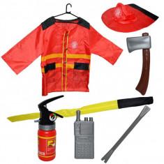 Costum pompier cu accesorii, 7 piese