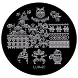 Cumpara ieftin Matrita Metalica Stampila Unghii LUX-20 - Winter's Tale