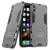 Husa KRASSUS pentru iPhone XS Max hibrid antishock, gri