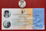 """Moneda de argint - 10 Euro 2005 """"Armististice Anniversary"""", Belgia, Europa"""