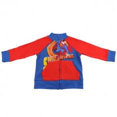Hanorac Superman, bumbac, Rosu/Albastru, pentru copii