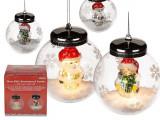 Cumpara ieftin Glob decorativ Craciun din sticla cu led - ca. 10 cm, Radar 939046, diverse modele