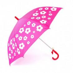Umbrela copii imprimeu Floral Fucsia