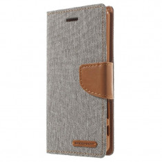 Husa APPLE iPhone 5\5S\SE - Canvas Diary (Gri)