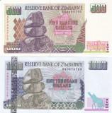 Bancnota Zimbabwe 500 si 1.000 Dolari 2001/2003 - P11a/12a UNC ( set x2 )