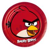 Farfurii petrecere copii 23 cm Angry Birds, Amscan 552360, Set 8 buc