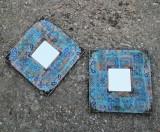 Cumpara ieftin Doua mini oglinzi decorative - rama lemn- vintage/ retro/ shabby/ rustic