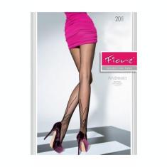 Ciorapi eleganti, cu model discret pe gamba piciorului, de 20 DEN