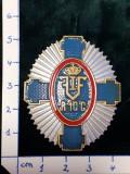 Insigna 7-ani REGIMENT 10 CALARASI ; reproductie Regalista