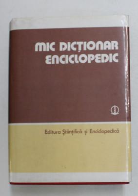 MIC DICTIONAR ENCICLOPEDIC , EDITIA A TREIA , 1986 foto