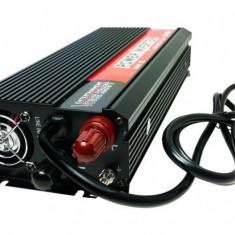 Invertor Convertor USB de la 12V la 220-230V si Port USB, Putere 1000W