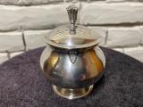 Zaharnița cu capac stil neo-clasic din argint
