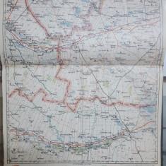 Harta Buzău, Râmnicu Sărat, Brătianu, Slobozia, Căldărești, 1928