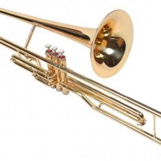 Trombon Bb (Si bemol) 3 pistoane Karl Glaser Auriu