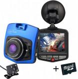 Camera auto Dubla iUni Dash 806, Full HD, 12Mpx, 2.5 Inch, 170 grade, Parking monitor, G senzor, Blue + Card 16GB Cadou