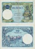 1937, 10 francs (P-36a.2) - Madagascar!