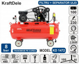 Cumpara ieftin Compresor de aer industrial 100litri, 2.8kW, 240l/min KraftDele KD1472