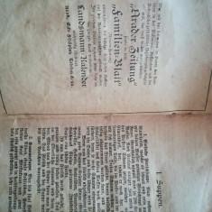 Carte de bucata din Transilvania, germana, tiparita la Arad