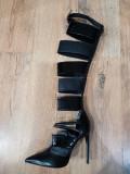 LICHIDARE STOC! Superbe cizme dama noi model deosebit piele naturala 39