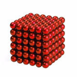 Neocube 216 bile magnetice 5mm, joc puzzle, culoare rosie