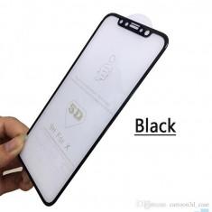 Geam Soc Protector Full LCD 5D Apple iPhone X , iPhone XS Negru