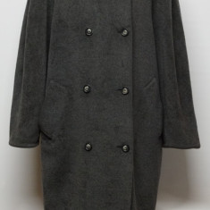 Palton gri Max Mara lana si casmir