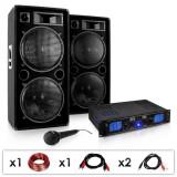 """Electronic-Star SET PA DJ """"DJ-26""""- Amplificator PA Boxe Microfon 2000W"""
