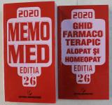MEMOMED 2020 - MEMORATOR DE FARMACOLOGIE ALOPATA ED. 26 , AUTORI COLECTIV , 2020