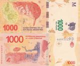 Bancnota Argentina 1 000 Pesos 2016 UNC