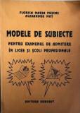 Modele de subiecte pentru admitere in licee si scoli profesionale