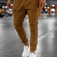 Pantaloni trening bărbați camel Bolf 0475