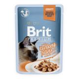 Pliculeț BRIT Premium Cat Delicate Fillets in Gravy with Turkey 85 g