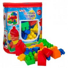 Sac de Cuburi Lego, Actual Investing, 60 piese, multicolor