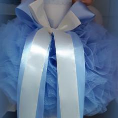 Lumanare de botez pentru fetite si baieti - ALBASTRU2473
