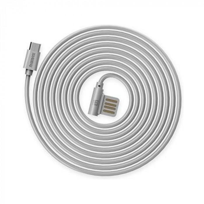Cablu Remax Rayen MicroUSB RC-075 Argintiu