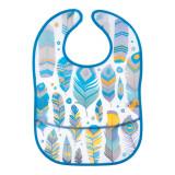 Baveta impermeabila Canpol Babies Feather 9/234A, Albastru