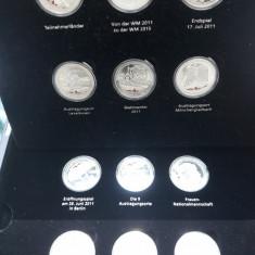 Set 12 buc medalii argint 0.333 Germania 2011 - Color cu aur cu rosu si negru