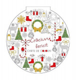 Crăciun fericit. Carte de colorat