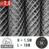 Cumpara ieftin PLASA IMPLETITA ZINCATA 1.5 X 10 M, DIAMETRU 2.0 MM