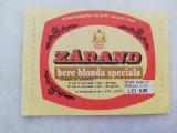 Eticheta Bere - ZARAND - Arad - ( Mica ).