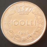 Moneda ISTORICA 100 Lei - ROMANIA / REGAT, anul 1943  *cod 5075