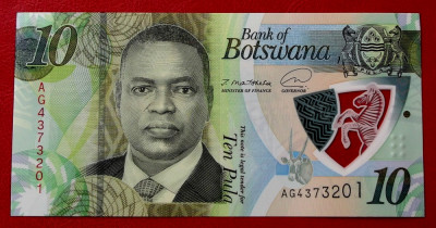 Botswana 10 Pula 2020 (2021) polimer UNC necirculata ** foto