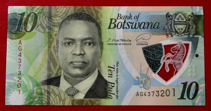 Botswana 10 Pula 2020 (2021) polimer UNC necirculata **
